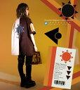 【全部選べる福袋特設会場】みひろさんデザインコラボ企画 太陽プリントのツートーンユニセックスシャツジャケット【2020年4月下旬新作】