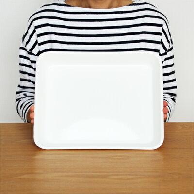 スコップケーキにぴったりの容器 琺瑯 野田