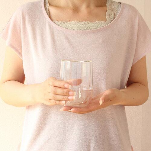 KINTO キントー クロノス KRONOS ダブルウォール アイスティーグラス 350ml 二重構造 グラス 耐熱ガラス