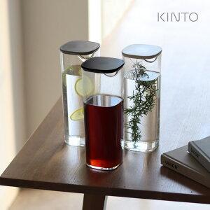 KINTO キントー OVA ウォーターカラフェ 1L(カラフェ 麦茶ポット 麦茶 耐熱 洗いやすい おしゃれ 食洗機 ティーポット ボトル お茶 入れ物 ピッチャー 冷蔵庫 容器 ポット ウォーターボトル お茶入れ 水差し 1リットル)