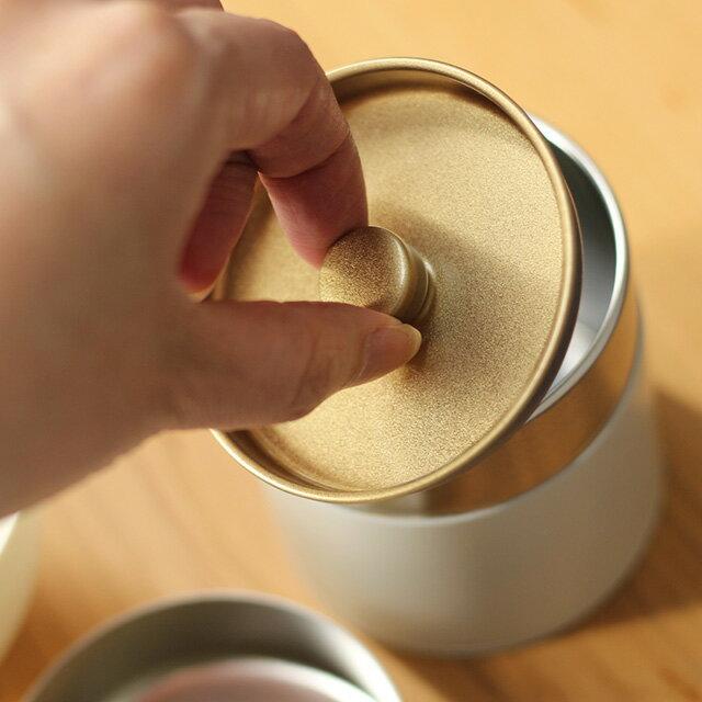 SALIU茶缶150g30652(茶筒おしゃれ日本製茶保存茶葉保存缶保存容器茶葉入れ茶葉入れ容器かわいい中国茶キャニスター缶ロロ密閉江東堂収納北欧)