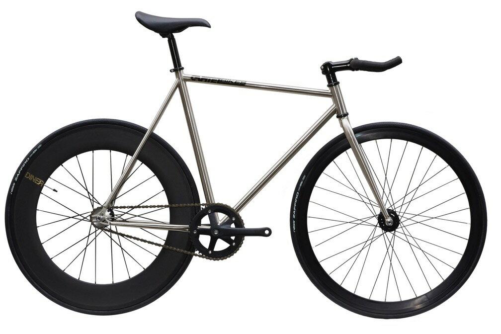 自転車・サイクリング, ピストバイク  CARTEL BIKE AVENUE LO CHROME DINER REAR 88mm CARBON WHEEL CUSTOM