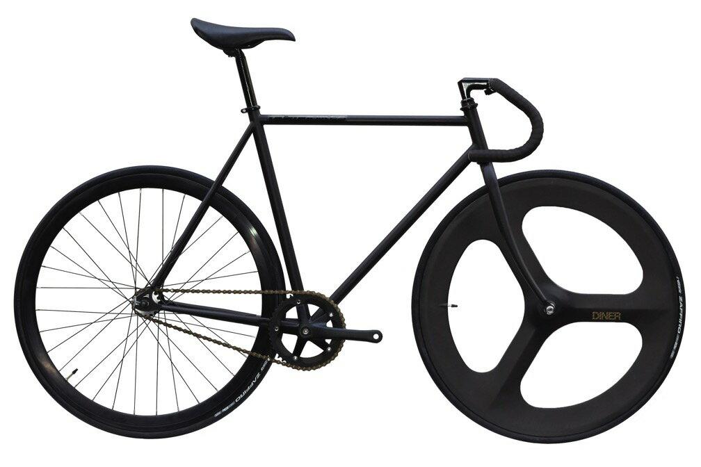 自転車・サイクリング, ピストバイク  CARTEL BIKE AVENUE MAT BLACK FRONT 3SPOKE CARBON WHEEL CUSTOM