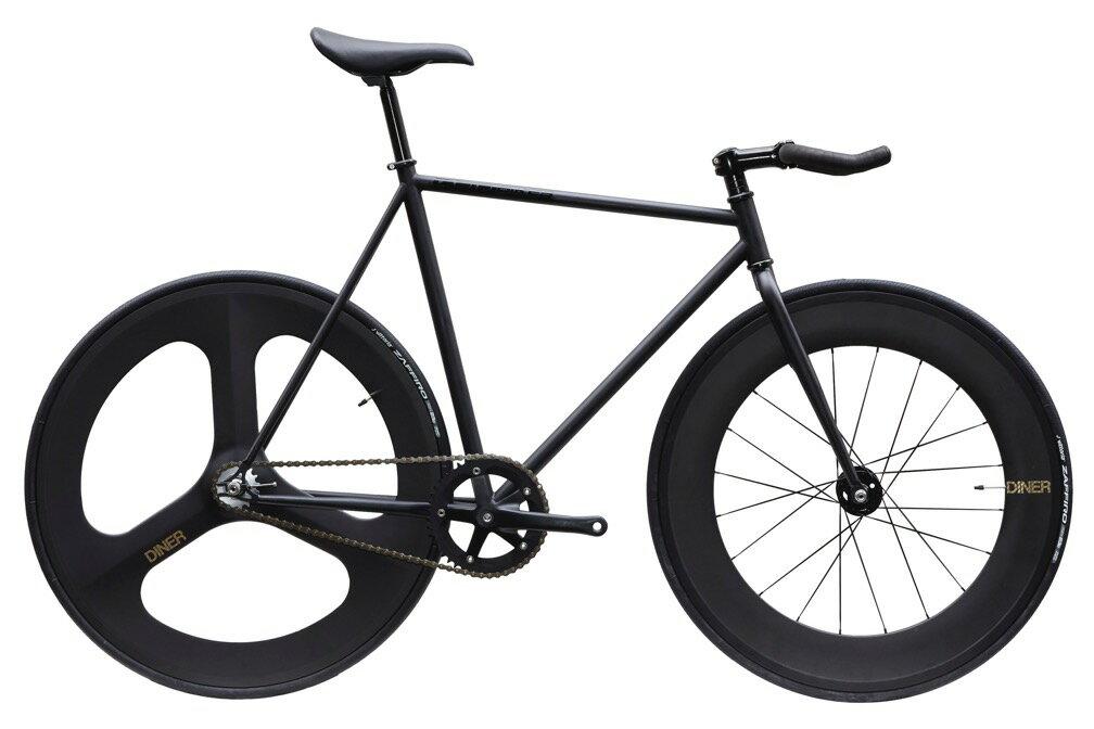 自転車・サイクリング, ピストバイク  CARTEL BIKE AVENUE LO MAT BLACK DINER FRONT 88mm REAR 3SOKE CARBON WHEEL CUSTOM