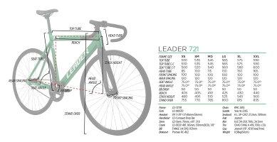 ピストバイク完成車LEADERBIKES721MATTEBLACKリーダーバイクス721マットブラック