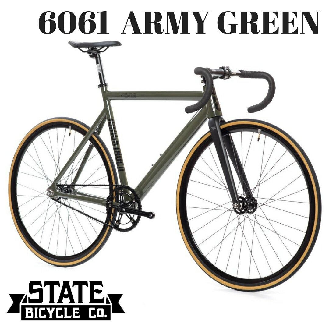 自転車・サイクリング, ピストバイク  STATE BICYCLE 6061 ARMY GREEN