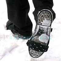 ワンタッチ・簡単スパイク左右1組簡易型の靴装着用スパイク靴の滑り止め雪道・凍結道路での転倒防止に!