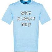 ★SALE★セール★RE-TAKE(リテイク) バロテッリ マンチェスターシティ Why Always Me? Tシャツ ジュニア(スカイ)【サッカー サポーター グッズ Tシャツ】