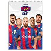 バルセロナオフィシャル2017壁掛けカレンダー【サッカーカレンダー】
