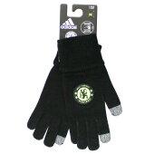 チェルシー16-17スマホ対応手袋(ブラック)【adidas/アディダス】【サッカーサポーターグッズグローブ】
