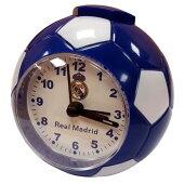 レアルマドリードオフィシャルアラームクロックサッカーボール型(ブルー)【サッカーサポーターグッズ】