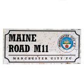 マンチェスターシティ オフィシャル Retro ストリートサイン MAINE ROAD【サッカー サポーター グッズ】