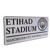 マンチェスターシティ オフィシャル ストリートサイン ETIHAD STADIUM (NEWクレスト)【サッカー サポーター グッズ】