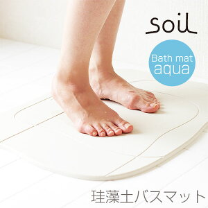 soilバスマットアクア★tidyPlaTawaフォーバス床洗いプレゼント
