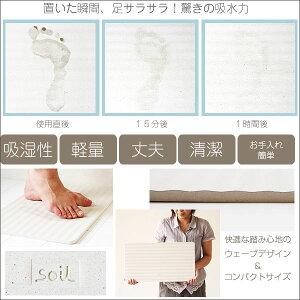 soilバスマットウェーブ★tidyPlaTawaフォーバス床洗いプレゼント