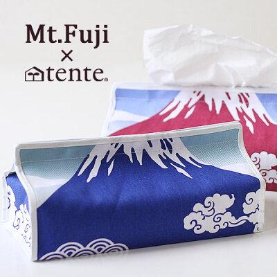 二次元と三次元の絶妙な融合。富士山ティッシュケース