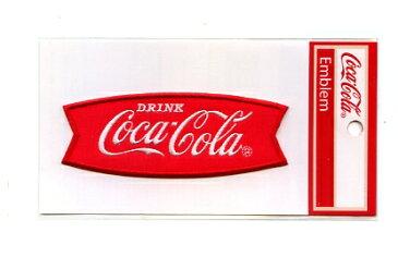 Coca・Cila(コカ・コーラ)エンブレムワッペン〔カンパニー 刺繍〕