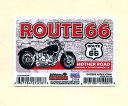 ROUTE66ステッカー MOTHER ROAD【USA イラスト アメリカン雑貨】