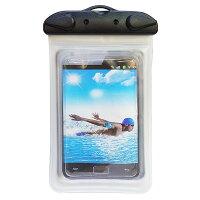 クリア防水ケース(ストラップ付)釣り、海水浴などのアウトドアにおすすめ
