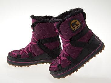 ソレル SOREL GLACY EXPLORER SHORTIE SNOW BOOTS WATERPROOF グレイシー エクスプローラー ショーティ スノー ウィンター ブーツ 防水加工 レディース ガールズサイズ VINO/BLACK #NL2079-529