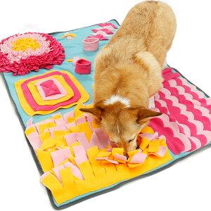 【即納】ペットおもちゃ 訓練毛布 Lサイズ 犬 猫 ペットノーズワーク マット訓練マット 餌マット しつけ用品 知育玩具 嗅覚訓練 犬噛む 集中力向上 性格改善 運動不足/ストレス解消 分離不安/食いちぎる対策 滑り止め 犬 猫 餌やり用品 洗える Fed Online