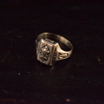 1930's ST.MARY'S カレッジリング 30年代 セント・メリーズ 指輪 シルバー 【古着】 【ヴィンテージ】 【中古】 【メンズ】