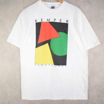 90's Kemper Snowboards USA製 プリントTシャツ XL 90年代 アメリカ製 ケンパースノーボード スノボ メーカー 企業 【古着】 【ヴィンテージ】 【中古】 【メンズ】