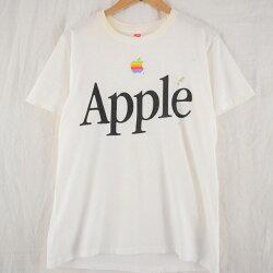 80'sAppleUSA製レインボーロゴTシャツ80年代アップルマック企業【古着】【ヴィンテージ】【中古】【メンズ店】