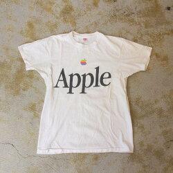 """80'sAppleUSA製""""Apple""""レインボーロゴTシャツL80年代アメリカ製ヘインズアップル企業Technology【古着】【ヴィンテージ】【中古】【メンズ店】"""