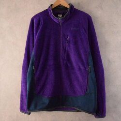 2000'sPatagoniaRシリーズR22トーンフリースジャケット2000年代パタゴニアアウトドア紫【古着】【ヴィンテージ】【中古】【メンズ店】