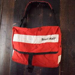 UKRoyalMailメッセンジャーバッグイギリスロイヤルメールショルダーバッグ鞄リフレクター【古着】【ヴィンテージ】【中古】【メンズ店】