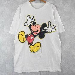 """90's""""MickeyMouse""""キャラクタープリントTシャツ90年代ミッキーマウスディズニー【古着】【ヴィンテージ】【中古】【メンズ店】"""