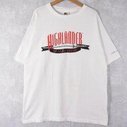 HIGHLANDER映画プリントTシャツXL90年代ハイランダームービーシネマ刀【古着】【ヴィンテージ】【中古】【メンズ店】