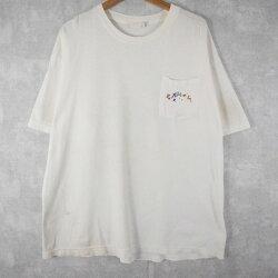 90'sCAMELレインボーカラーペイントロゴポケットTシャツXL90年代キャメルポケTロゴプリント【古着】【ヴィンテージ】【中古】【メンズ店】