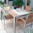 ガーデンチェアー:ライズ ダイニングテーブル + アームチェアー4脚 合計5点セット[F-252]【fsp2124-6f】【あす楽対応不可】【全品送料無料】