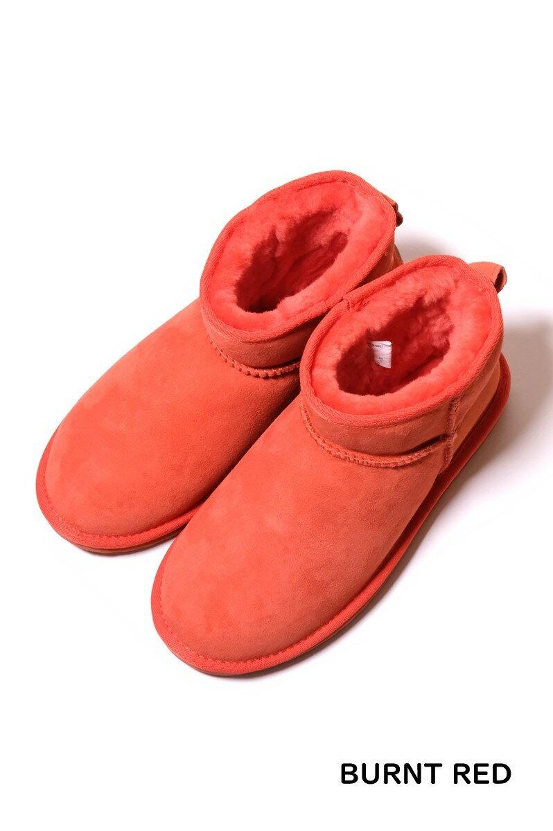 【WOMEN'S】 EMU Australia Stinger Micro (2色 CHARCOAL/BURNT RED) W10937 エミュー シープスキン ムートン フカフカ フワフワ 柔らか ブーツ オーストラリア ウィメンズ