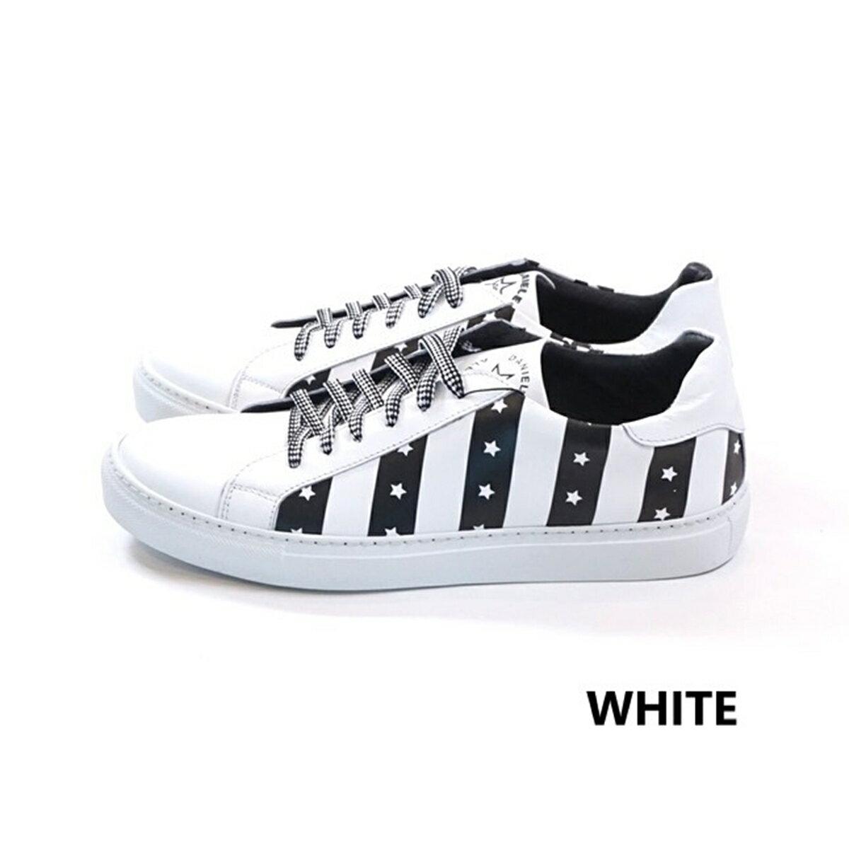 メンズ靴, スニーカー DANIELE ALESSANDRINI SNEAKERS BASSA LACCI RIGHE (2 WHITEBLACK) 211-57682001