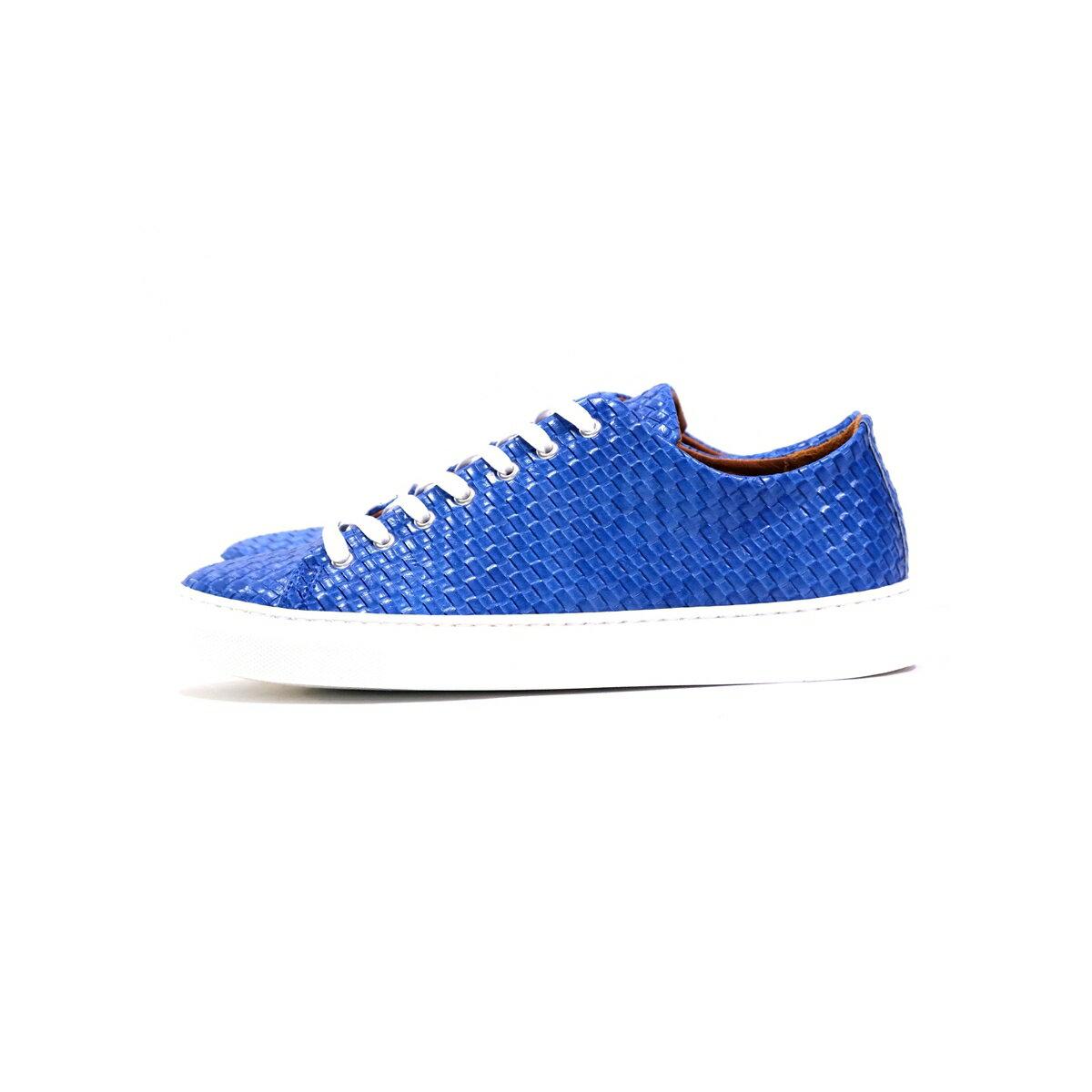 メンズ靴, スニーカー DANIELE ALESSANDRINI SCARPA LACCI INTRECCIATA (2 BLUEORANGE) 211-63482002