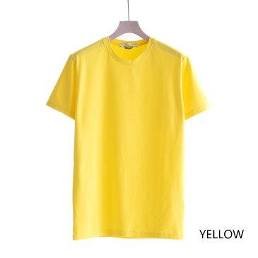 DANIELE ALESSANDRINI MAGLIA GIRO UNITO ST (2色 YELLOW/ORANGE) 211-65541001 ダニエレアレッサンドリーニ 伸縮性 無地T Tシャツ カットソー イタリア メンズ 送料無料
