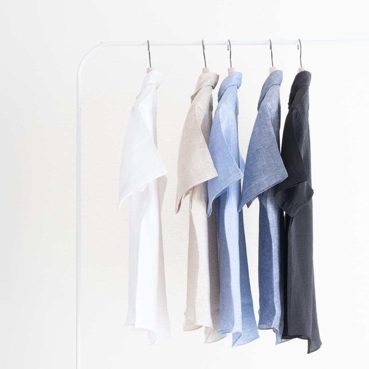 トップス, カジュアルシャツ FEEL EASY ORIGINAL CLASSIC LINEN SS SHIRT (5) FE-SH-7114