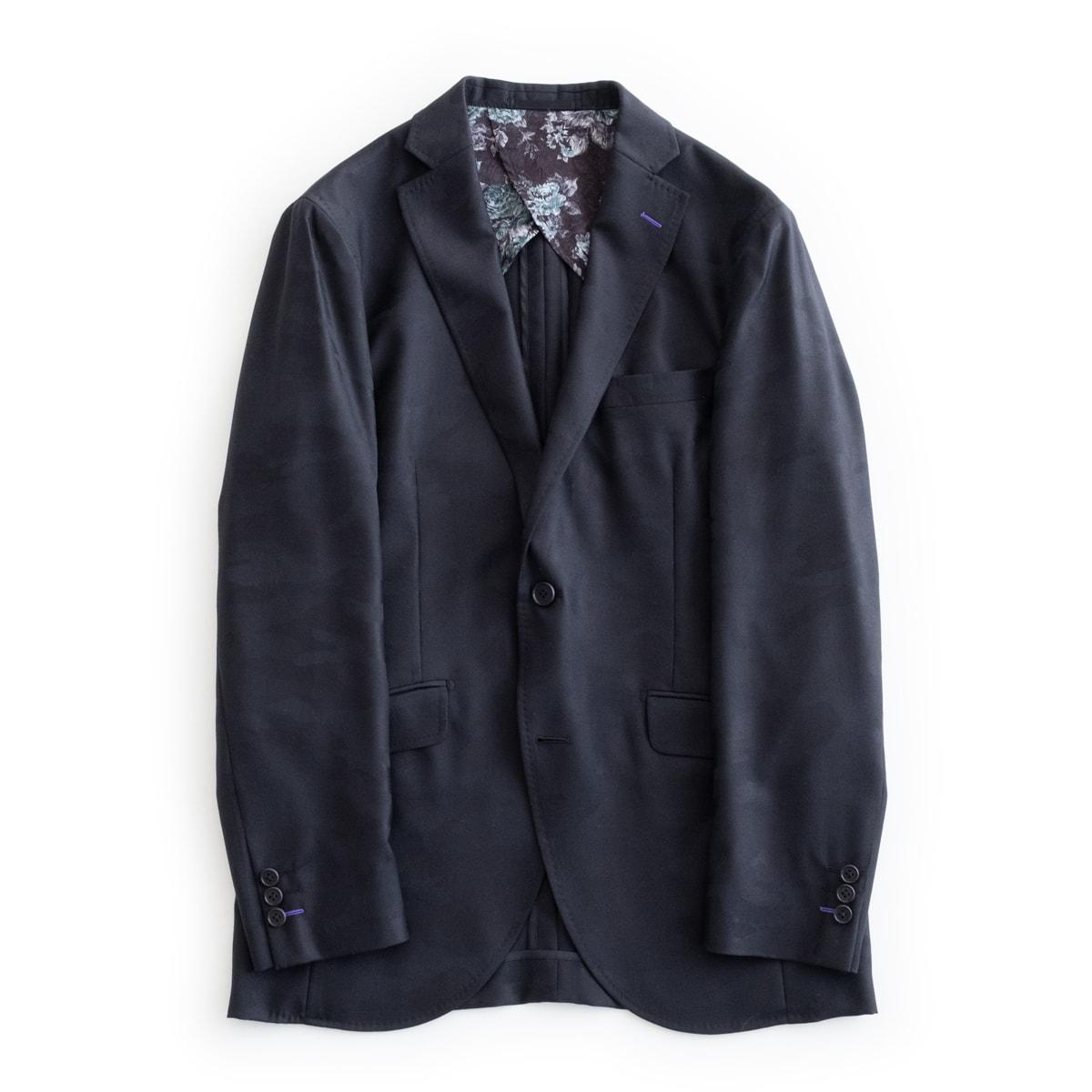 メンズファッション, コート・ジャケット FEEL EASY ORIGINAL SHADOW CAMOUFLAGE SILK JACKET (Black) FE-JK-7109