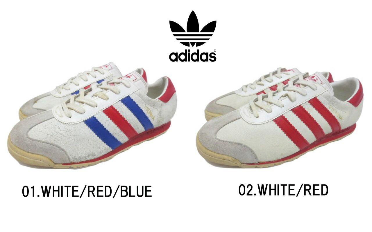 メンズ靴, スニーカー 96 Dead Stock adidas VIENNA 01.WHITEREDBLUE,02.WHITEREDU S 6 12,US 7,US 7 12mellow