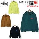ステューシー STUSSY WOMENS ベーシック ロゴ フード スウェット パーカー トレーナー BASIC LOGO HOOD レ...