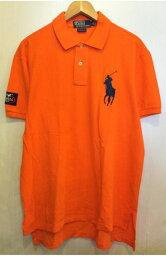 【中古】POLO Ralph Lauren/ラルフローレン ビッグポニー 鹿の子 ポロシャツ オレンジ 表記(L)【古着屋mellow楽天市場店】