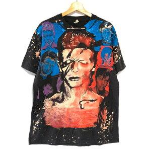 【ゆうパケット対応】モスキートヘッド風 デヴィッド ボウイ DAVID BOWIE Tシャツ サイズ:L, XL ブラック【新品】 新品 mellow 【古着屋mellow楽天市場店】