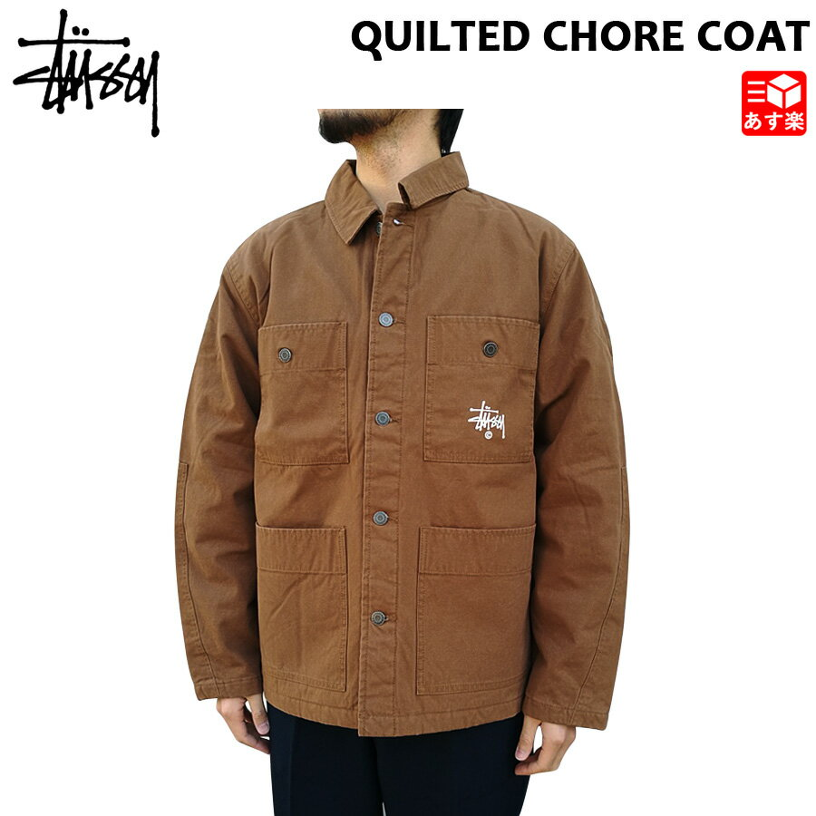 メンズファッション, コート・ジャケット  STUSSY QUILTED CHORE COAT S , M , L ,XL 115475 mellow mellow