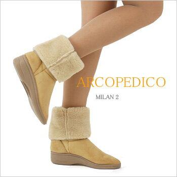 【ポイント10倍】アルコペディコ(ARCOPEDICO)MILAN2 大人のムートンブーツ♪足への優しさをそのままにオシャレ度アップ! 【送料無料】