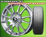 軽自動車専用!軽量ECOホイール!STRATEGYST&低燃費タイヤブリヂストンNEXTRY155/65R134本セット