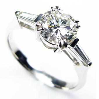 「39ショップ」ダイヤモンドリング/宝石鑑別書付/1.0ct 0.2ctプラチナ900指輪/芦屋ダイヤモンド/極KIWAMI