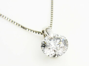 「39ショップ」1ctダイヤモンド【鑑定書付】ネックレス/プラチナ850/芦屋ダイヤモンド/極KIWAMI
